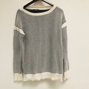 Vince black and white sweater size S